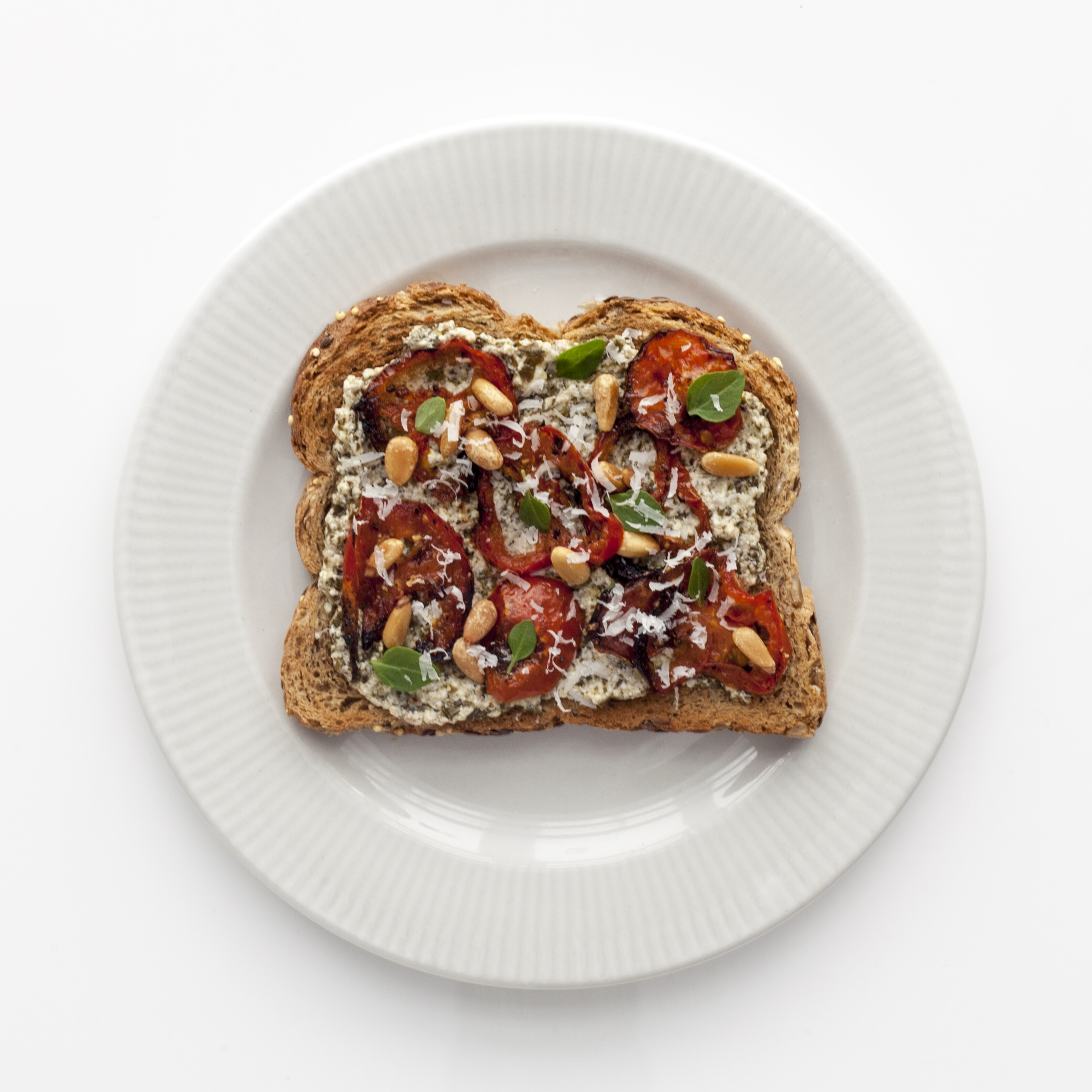toastytuesday Pesto Roasted Tomato Toast | The Pantry
