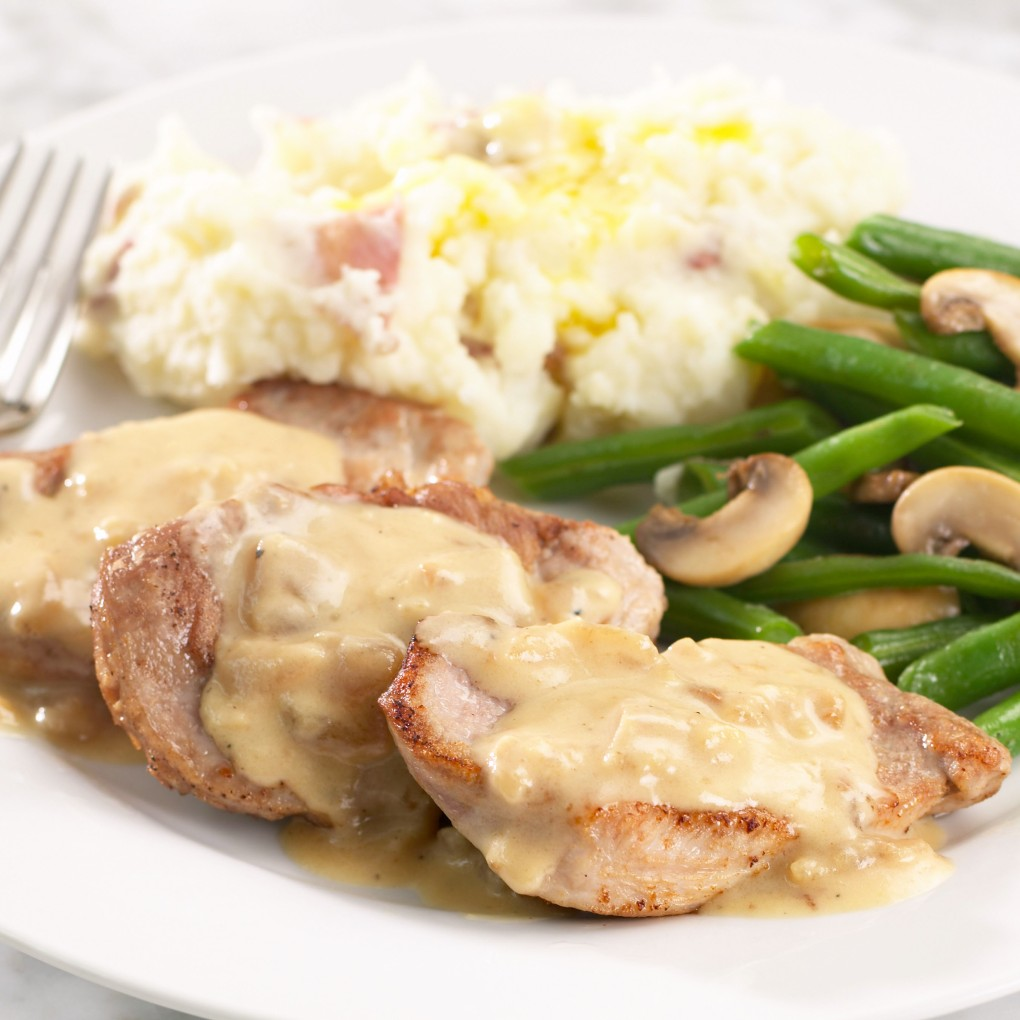 Pork Medallions with Roasted Apple Grille Sauce