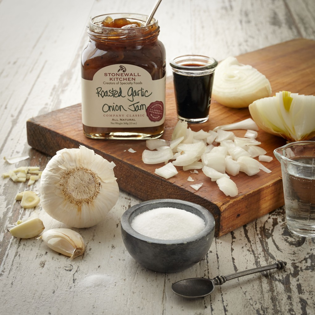Roasted Garlic Onion Jam Ingredients