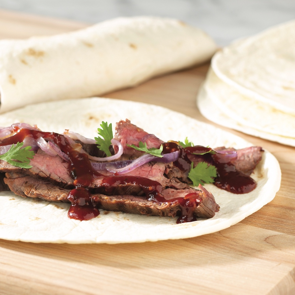 Barbecued_Steak_Wrap-Ups_with_Maple_Chipotle_Grille_Sauce
