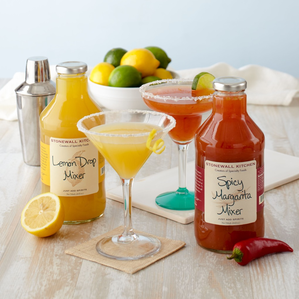 Lemon Drop and Spicy Margarita Mixers